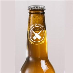 玻璃啤酒瓶瓶口貼圖樣機