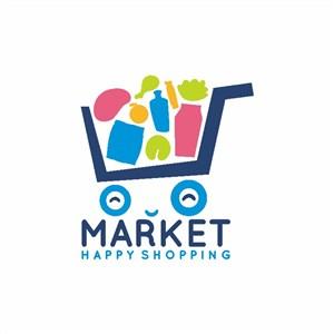 购物车标志图标超市logo
