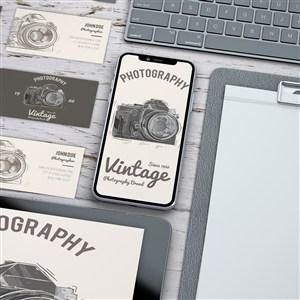 攝影概念手機電腦名片vi貼圖樣機