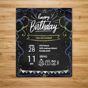 參加生日兒童家庭聚會邀請函設計模板.ai