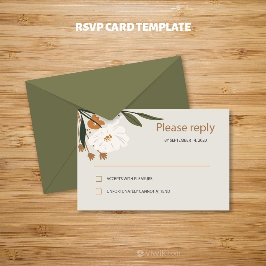 綠色信封包裝尊享會員邀請函設計模板.eps