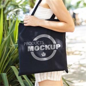 黑色手提袋購物袋貼圖樣機