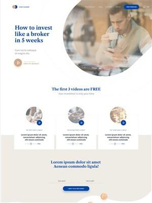 互聯網科技企業網站首頁模板