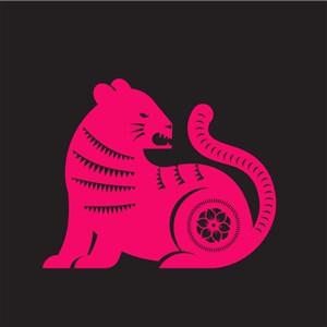 中国风剪纸十二生肖之虎矢量素材