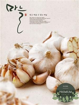 韓國大蒜美食電商促銷banner宣傳海報