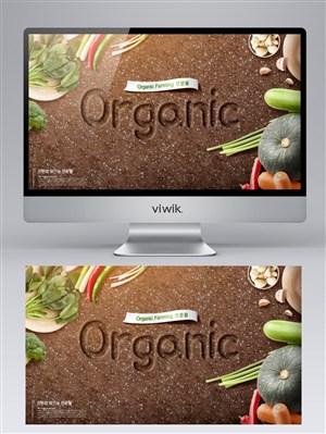 organic蔬果素材背景banner设计