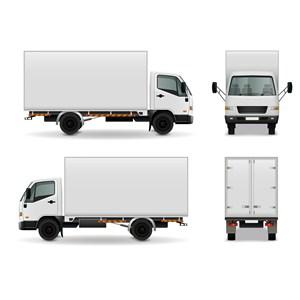 货车四个面样机模板
