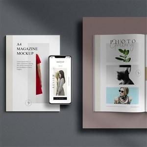 手機產品畫冊貼圖樣機