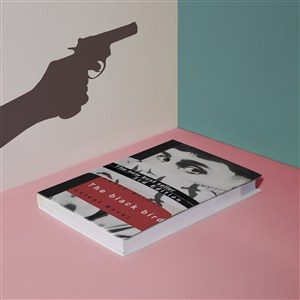 墙上剪影书籍贴图样机