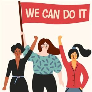 女權主義招貼婦女節三八節矢量素材