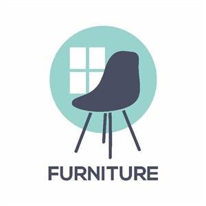 椅子窗戶標志圖標家具品牌矢量logo