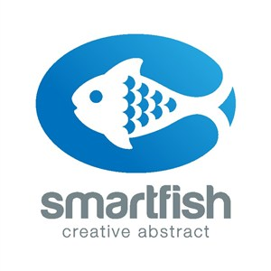 魚圖標雜志矢量logo設計素材