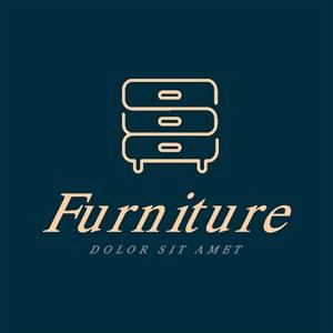 柜子標志圖標家具品牌矢量logo設計素材