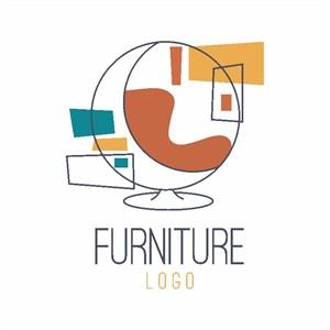 休閑沙發標志家具矢量logo設計