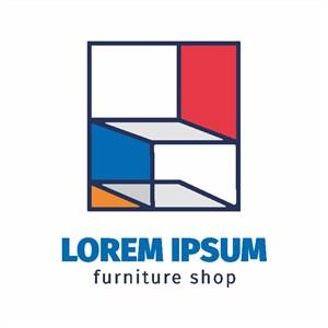 极简主义家具标志设计logo素材