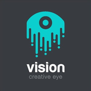 眼睛图标眼药水logo设计素材