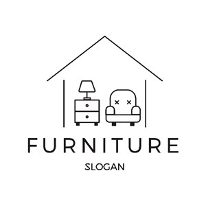房子家具圖標家具品牌logo設計