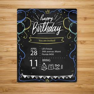参加生日儿童家庭聚会邀请函设计模板.ai