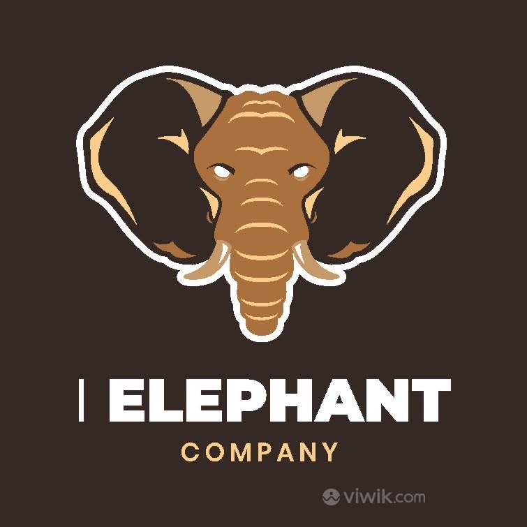 大象图标吉祥物logo