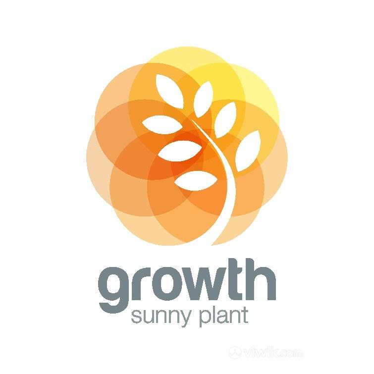 植物图标化妆品矢量logo设计素材