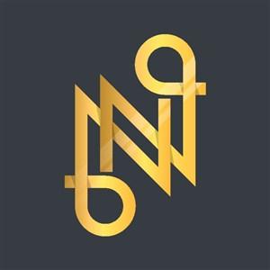 金色字母N标志图标企业logo