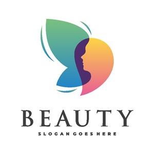 女人翅膀标志图标美容医疗logo设计素材