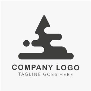 字母A变形图标设计传媒矢量logo