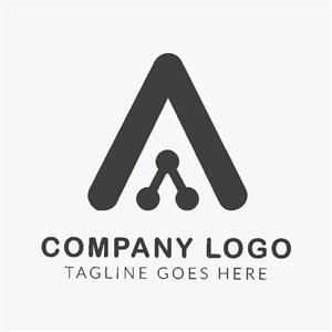 字母A抽象变形科技公司logo