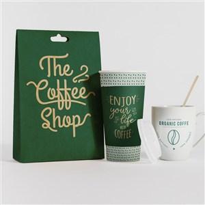 咖啡店vi咖啡豆包裝袋一次性咖啡杯馬克杯貼圖樣機