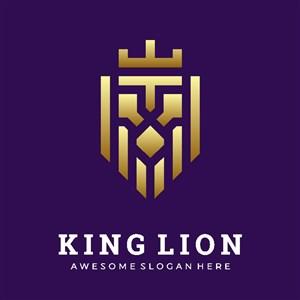 獅子王矢量logo設計標志圖標