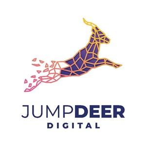 数字飞鹿标志图标网络公司logo素材