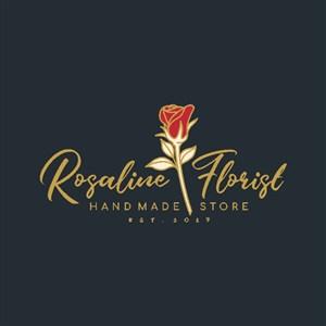 玫瑰花标志图标护肤品品牌logo