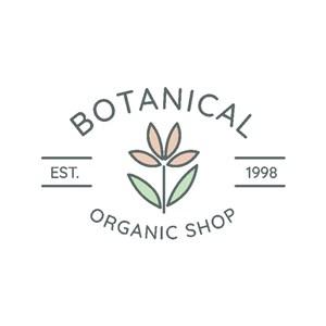 花朵图标护肤品矢量logo