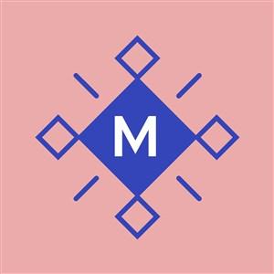 带有字母M的图标服饰时尚矢量logo设计素材