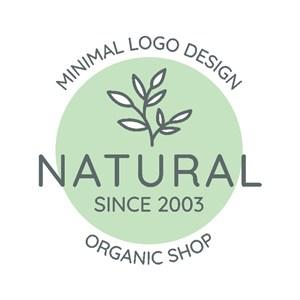植物化妆品牌矢量logo设计