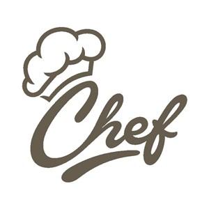 厨师帽图标餐厅矢量logo设计素材
