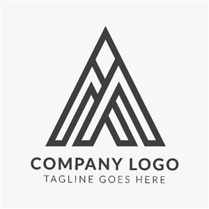 字母A变形图标建筑logo设计