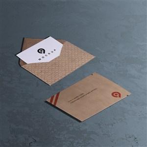 信纸信封邀请函样机素材