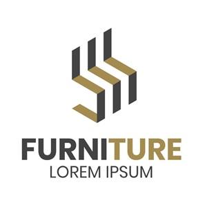 簡約家具品牌矢量logo設計素材