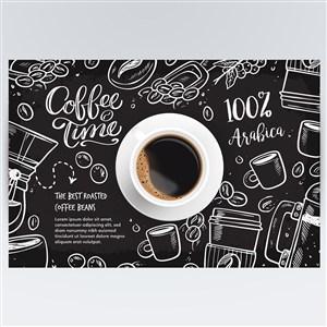 超逼真咖啡宣传广告海报矢量模板