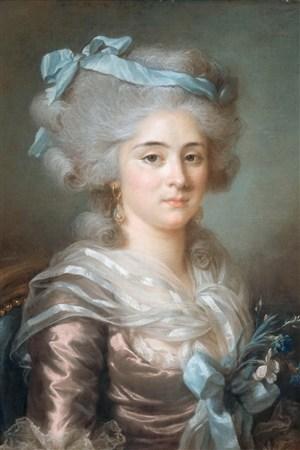 白發貴婦歐洲宮廷人物油畫圖片