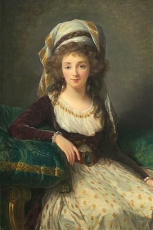 西方貴婦歐洲宮廷人物油畫圖片