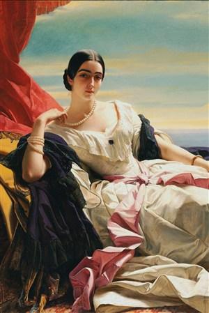 歐洲宮廷貴婦超高清人物油畫作品圖片