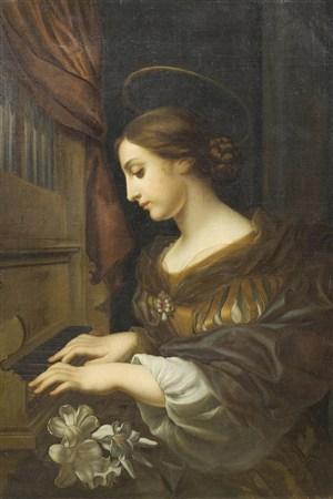 彈鋼琴的優雅女人超高清人物油畫作品圖片