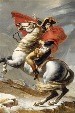 駿馬上的騎士超寫實人物油畫藝術圖片