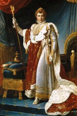 拿破侖超寫實人物油畫藝術圖片