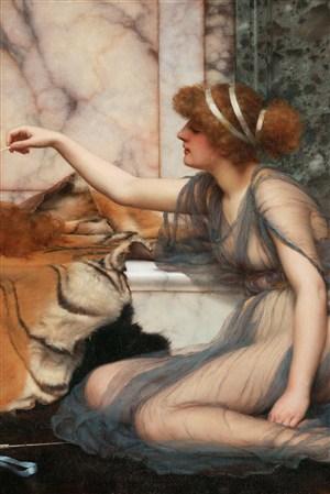 裸體女人超寫實人物油畫藝術圖片