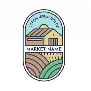 农场图标超市矢量logo