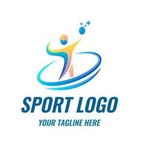 抽象轮廓运动标志矢量logo设计素材