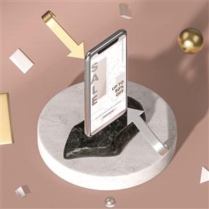 3D金属与手机贴图样机